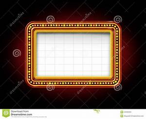 Light Up Theater Sign Theater Marquee Sign Stock Illustration Illustration Of