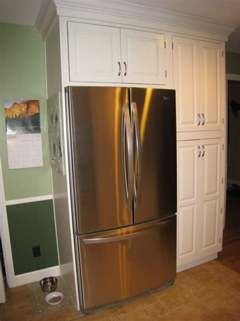 side of kitchen cabinet ideas kitchen cabinets around refriagerator your refrigerator