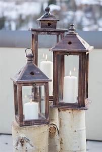 Lantern, And, Aspen, Tree, Alter, Decor