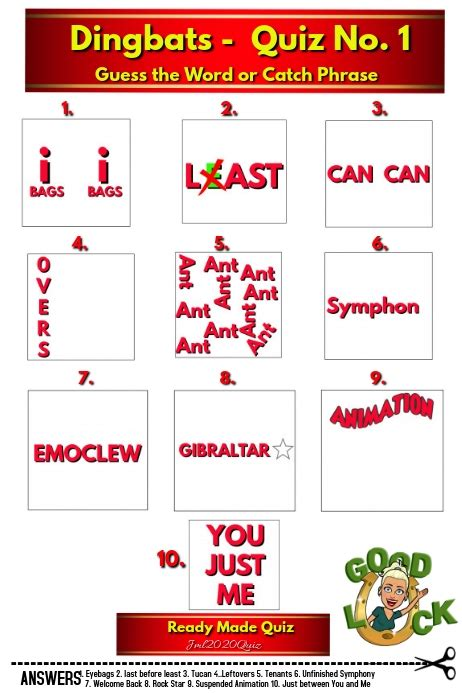 quiz  answers dingbats template postermywall