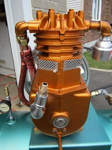 Air Compressor Brunner 1951 Powered By Wagner Electric Motor