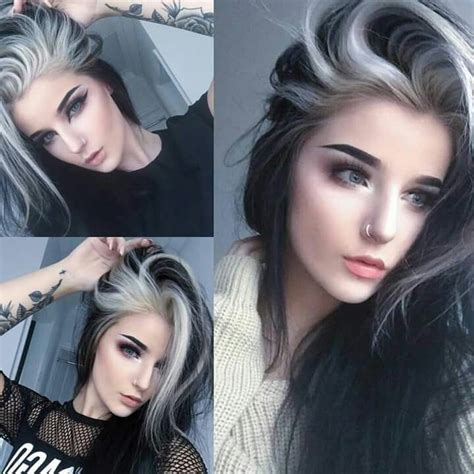 Dying Hair Ideas For Black Hair by 166 Best Black And White Hair Images On