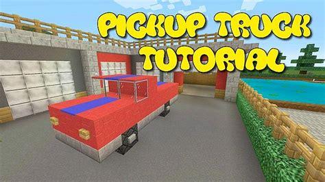 minecraft pickup truck minecraft pickup truck tutorial minecraft project