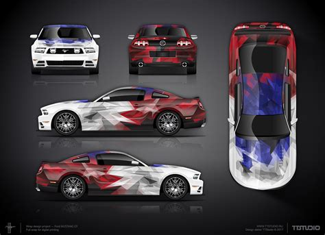 approved crystal ford mustang gt full wrap design
