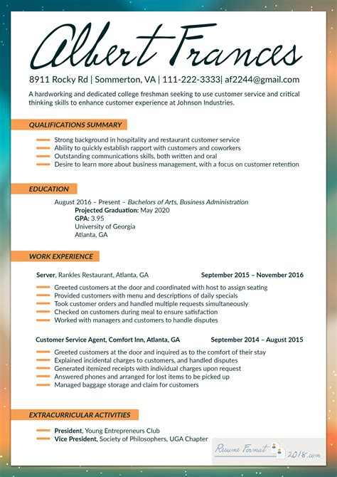resume format   fresher bag  web