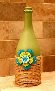Upcycled Wine Bottle Home Decor: National Craft Month ...