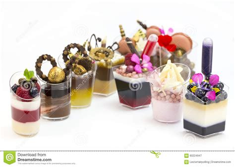 dessert canapes dessert canapes stock image image of creuffs icecream