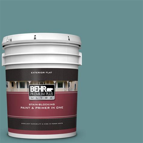behr premium plus ultra 5 gal 500f 6 hallowed hush flat exterior paint and primer in one