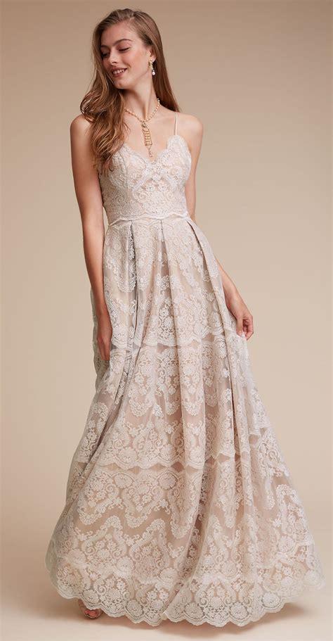 lace vintage wedding dress spaghetti strap wedding