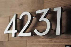house number diy make your own modern address numbers With large exterior house letters
