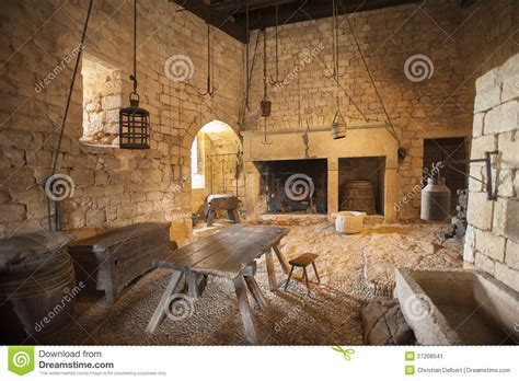 medieval kitchen stock image image  cook chateau