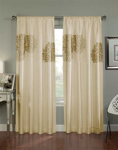 floral blossom faux silk curtain panel curtainworks