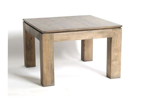 table basse h 233 v 233 a massif gris 233 carr 233 e 60x60