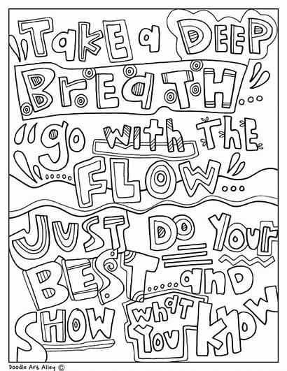 Pages Doodle Alley Coloring Encouragement Doodles Classroom