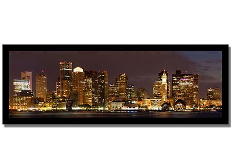 city skyline framed canvas