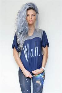 Great purple hair! :) | Purple-blue-gray hair color ...