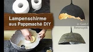 Lampen Selber Bauen Anleitung : pappmache lampenschirme in gold betonoptik selber machen ~ A.2002-acura-tl-radio.info Haus und Dekorationen