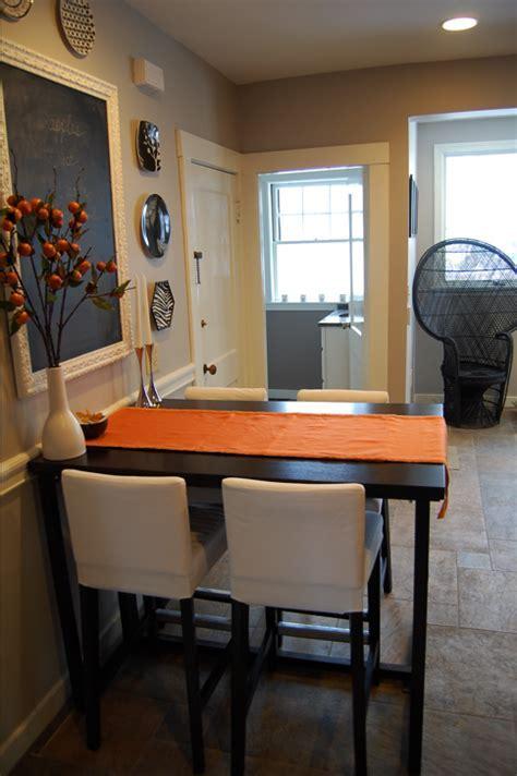 Breakfast nook bar height table   Dream Home   Pinterest