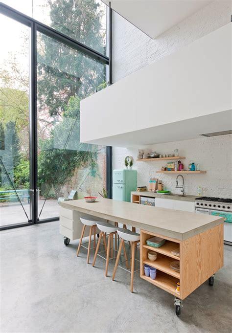 cuisine ouverte ilot comment bien aménager une cuisine ouverte visitedeco