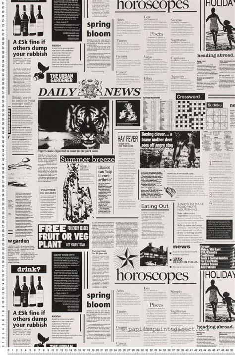papier peint journal noir et blan papier peint dekora