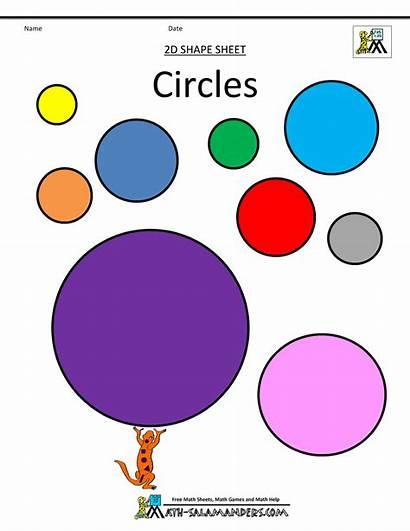 Shapes Clipart Math Circle Shape 2d Circles