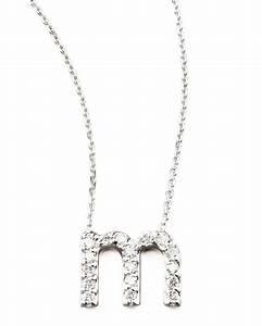 kc designs diamond letter necklace m With letter m diamond necklace