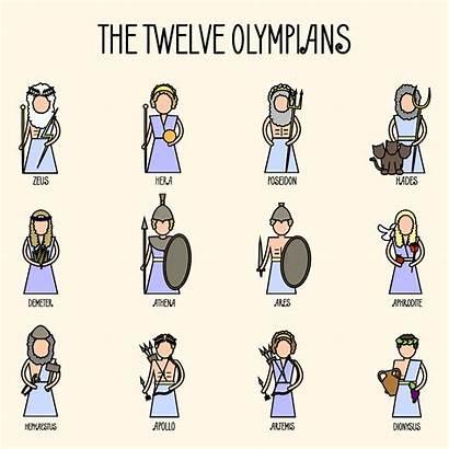 Olympians Greek Twelve Mythology Greece Ancient Goddess