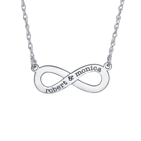 couples infinity necklace xmm personalized jewelry