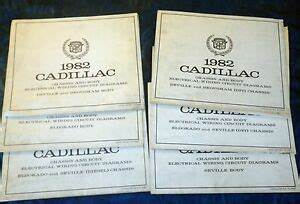 1982 Set Of 6 Cadillac Wiring Circuit Diagrams Eldorado