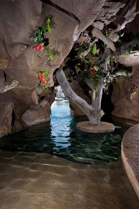 Cave Backyard by 25 Spectacular Tropical Pool Landscaping Ideas