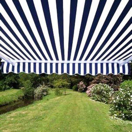 aleko awxbwstr retractable     blue  white stripes patio awning