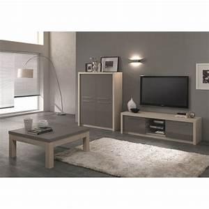 Meuble Tv 180 Cm : meuble tv design 180 cm ch ne blanchi gris laqu rosano ~ Teatrodelosmanantiales.com Idées de Décoration