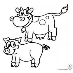 disegno  animali della fattoria da colorare  bambini