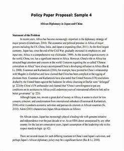 policy position paper template
