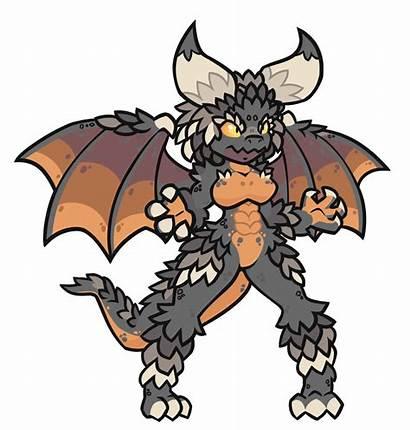 Female Monster Horns Nergigante Dragon Anthro Dragons