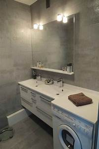 lave linge salle de bain dootdadoocom idees de With porte d entrée alu avec machine a laver sous vasque salle de bain