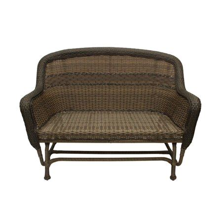 Wicker Glider Loveseat by 50 Quot Sedona Brown 2 Tone Resin Wicker Outdoor Patio