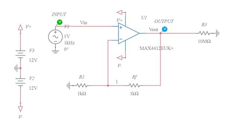 Non Inverting Amplifier Multisim Live