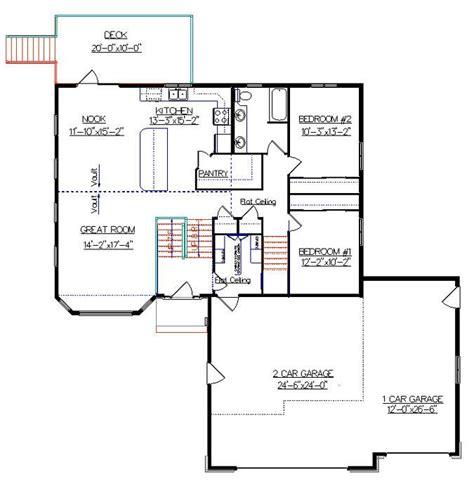 bi level house plans bi level house plan with a bonus room 2010542 by e designs