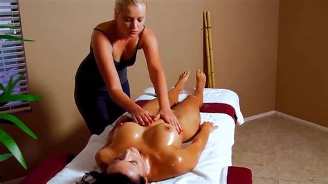 All Girl Nude Massage Busty Brunette Babe Has Sensual Oil