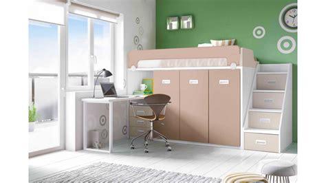 bureau chambre gar n lit mezzanine avec bureau moderne et glicerio so nuit