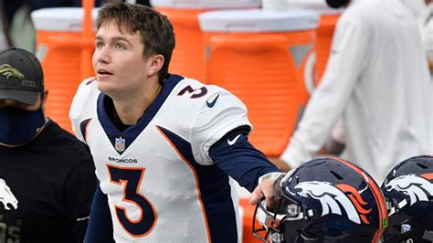 Drew Lock questionable for next practice, game with side ...
