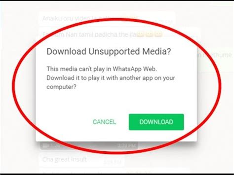 how to fix unsupported media error in whatsapp web