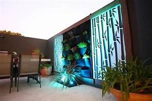 moderner sichtschutz fur den garten 20 tolle ideen With französischer balkon mit garten bodenstrahler