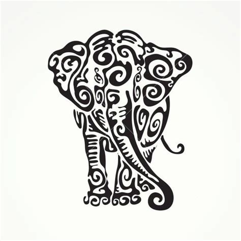 tribal clipart elephant pencil   color tribal