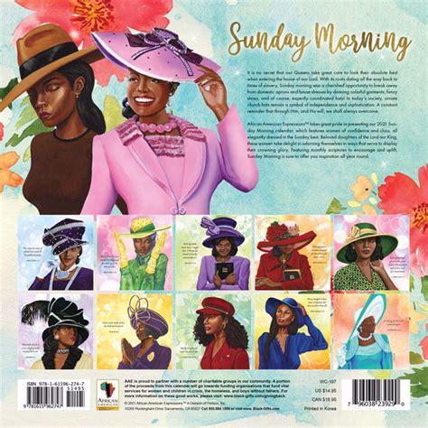sunday morning  calendar black art prints african american art gifts