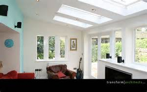 extensions kitchen ideas lean to extension exposed soffit and roof lights transform architects house extension ideas