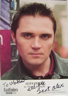 alex ferns autograph  eastenders actor
