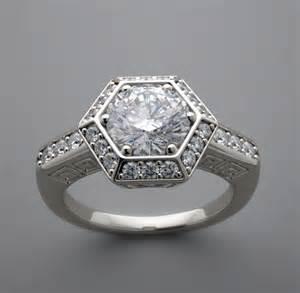 engagement ring settings hexagonal engagement ring setting