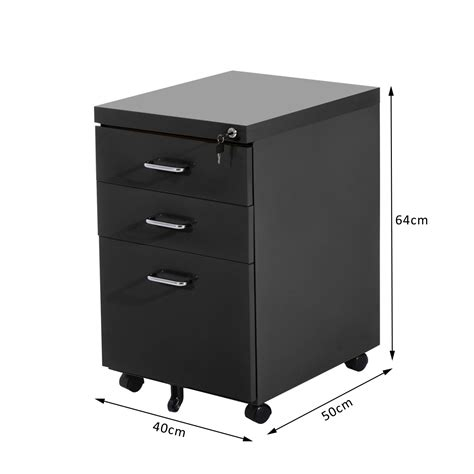 file cabinet on wheels homcom 3 drawers metal filing cabinet lockable w wheels